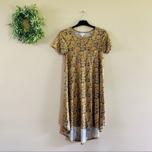 Lularoe | Carly Dress - Blue and Gold Floral